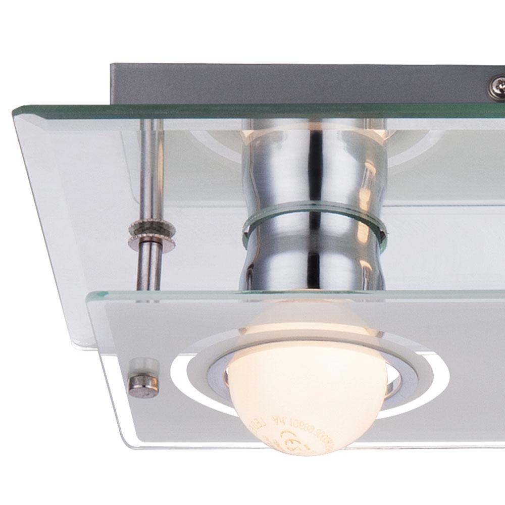 wand spiegel led spot lampe leuchte glas chrom beleuchtung wohn zimmer k che ebay. Black Bedroom Furniture Sets. Home Design Ideas