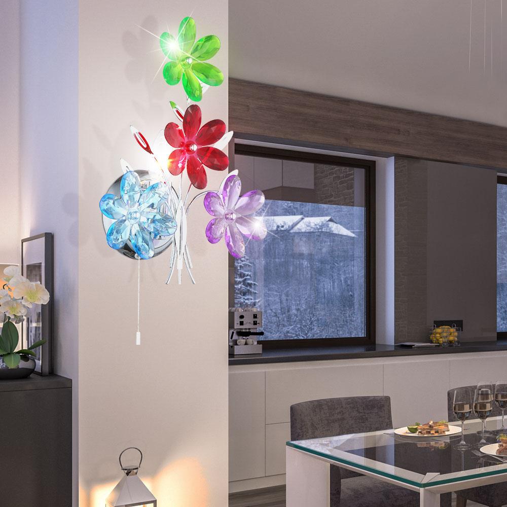 Applique Murale Pour Le Salon Au Design Floral Rainbow