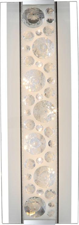 LED Kristall Wandlampe aus Chrom und Glas, L 35 cm, LOUISE – Bild 4