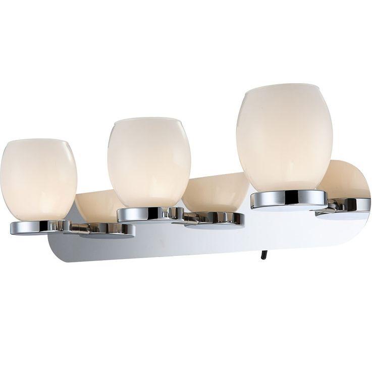 Applique DEL 9 watts lampe verre opale luminaire interrupteur éclairage chrome – Bild 1