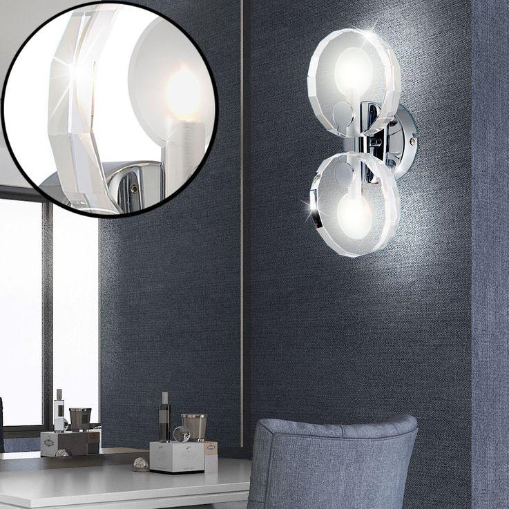 Wall chrome dining room crystal glass lamp lighting 2-flg lobby Globo WHEEL 41538-2 – Bild 2