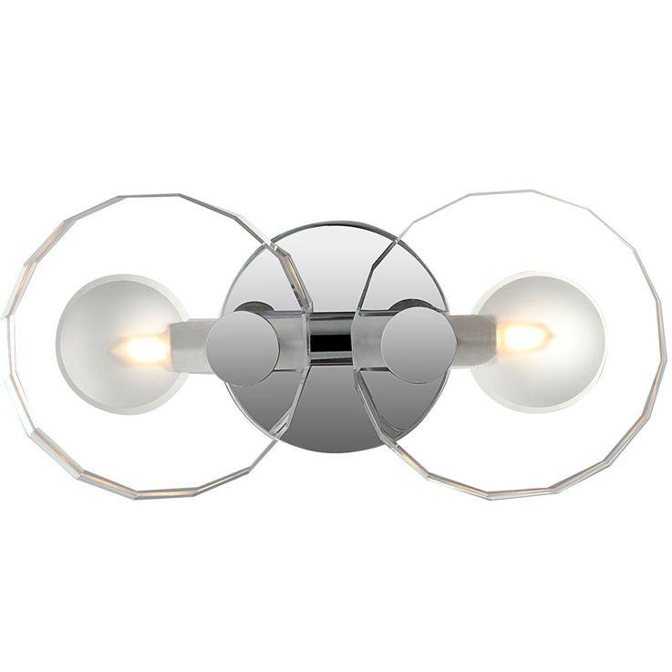 Wall chrome dining room crystal glass lamp lighting 2-flg lobby Globo WHEEL 41538-2 – Bild 3