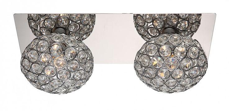 Applique luminaire mural chrome cristaux boule éclairage chambre couloir salle de séjour – Bild 1