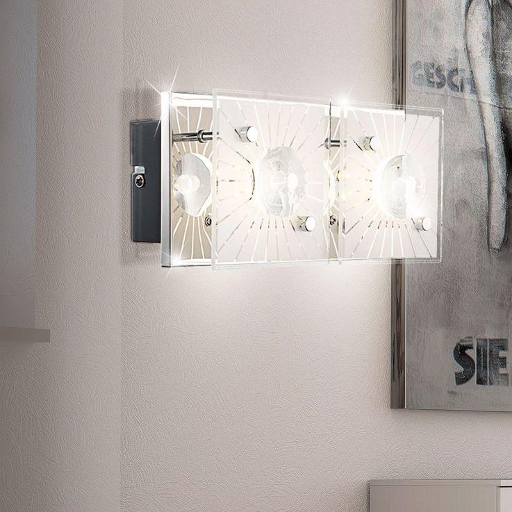 Dekorative LED Wandlampe in chrom - Globo SANTI 41691-2 – Bild 2