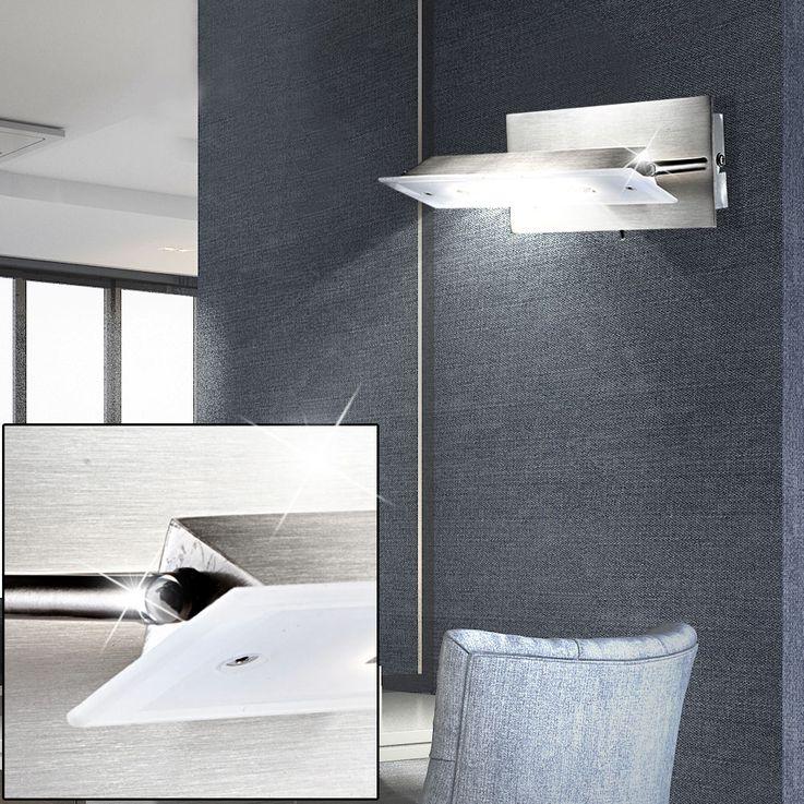 LED Metall Wandstrahler, schwenkbar, Länge 19 cm RETTANGOLO – Bild 4