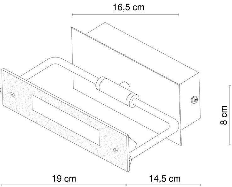 LED Metall Wandstrahler, schwenkbar, Länge 19 cm RETTANGOLO – Bild 6