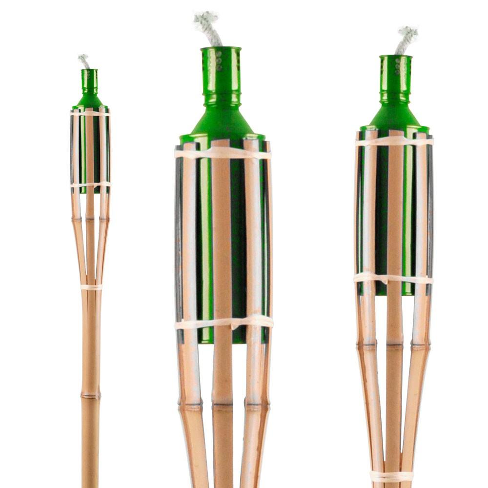 4 set bambou pelouse huile feu v randa clairage terrasse for Stores de bambou en plein air ikea