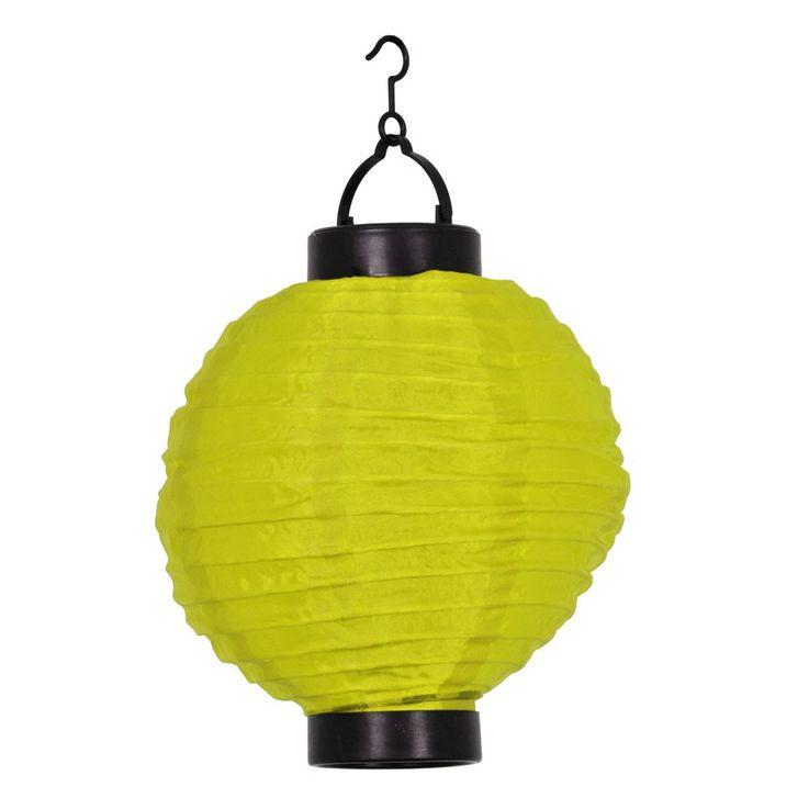 LED rund gelb Solar Lampion Akku Fenster Garten Terrasse Balkon Feier Event  – Bild 1
