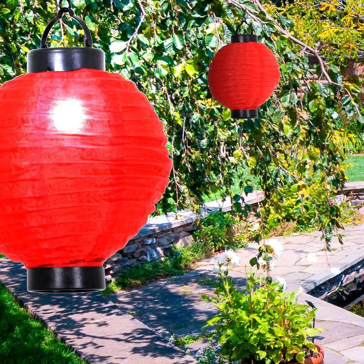 Solar LED Dekoration Akku rot Schalter Veranstaltung Feier Fenster Leuchte Licht – Bild 2