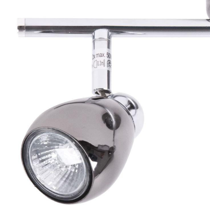 Wand Leuchte Spot Balken Decken Lampe perl-schwarz Strahler Brilliant MILANO G29713/76 – Bild 4