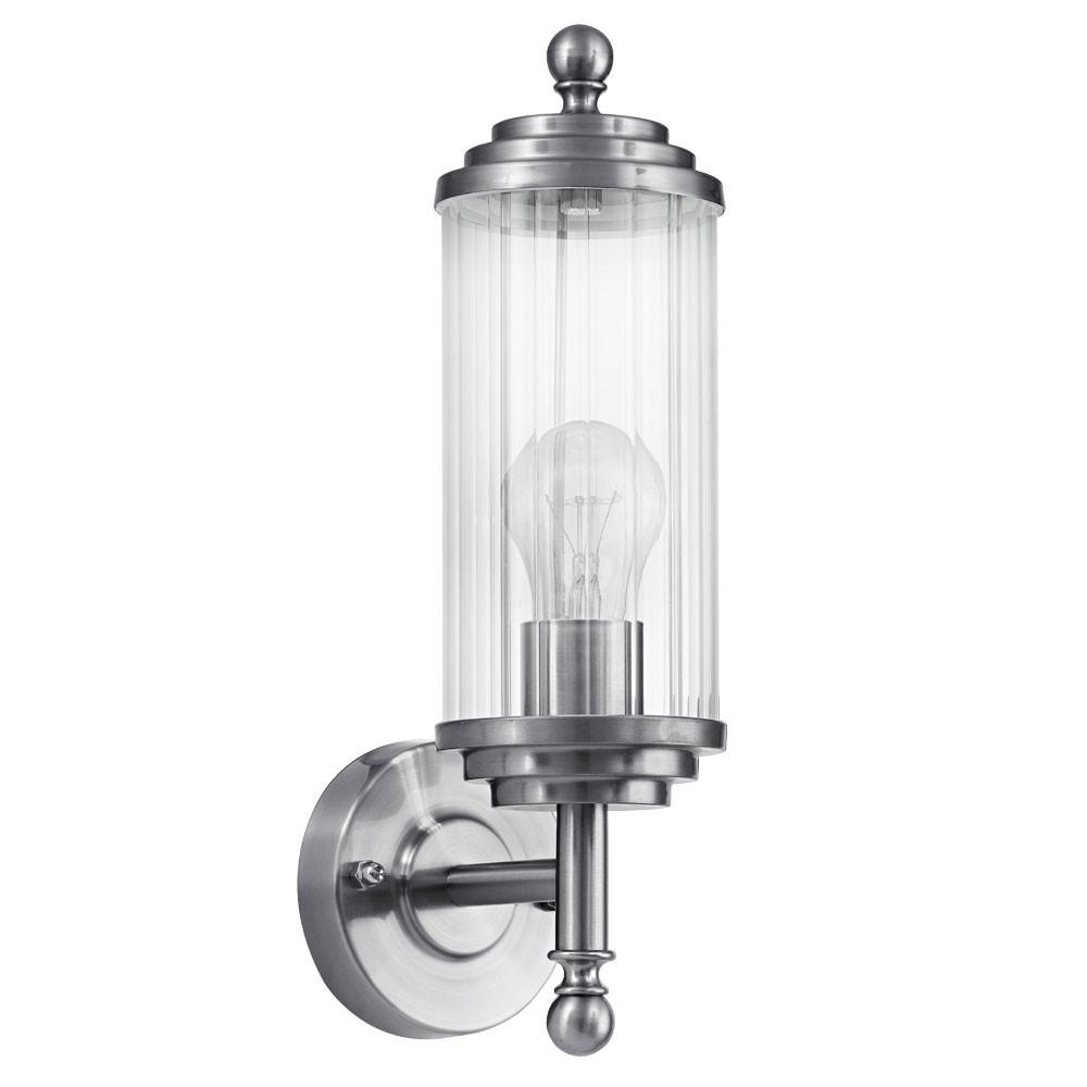 edelstahl balkon beleuchtung hof lampe wand leuchte ip54 aussen strahler e27 ebay. Black Bedroom Furniture Sets. Home Design Ideas