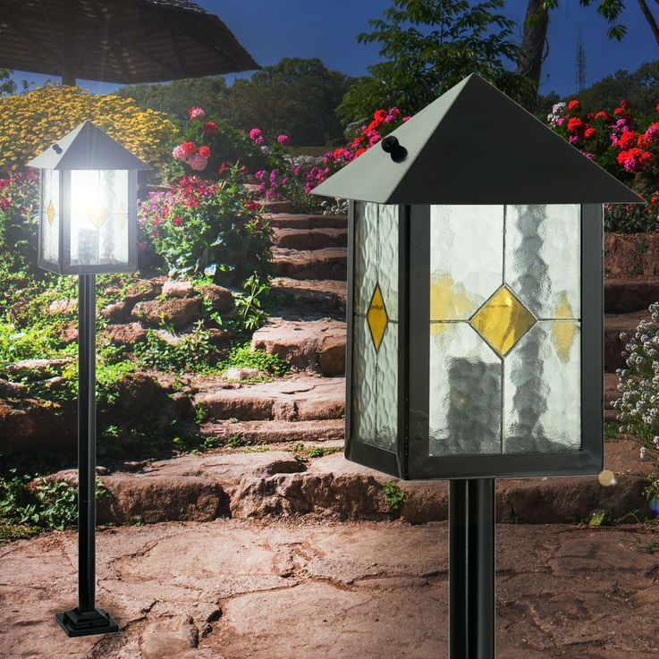Get lamp outdoor lighting steel glass Tiffanitechnik decor Eglo LibertÁ  22439 – Bild 6