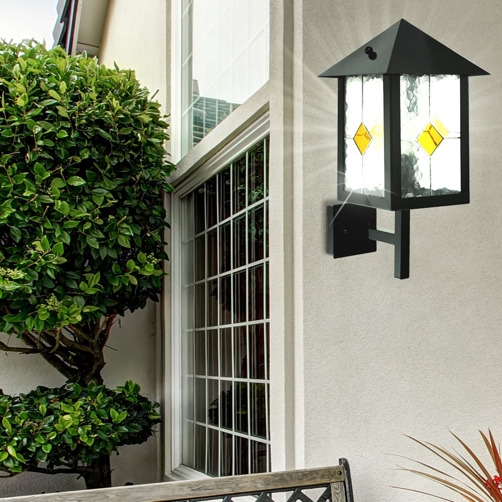 455 Eye Apartments: Exterior Wall Light Black IP44 Lamp Lighting Classic