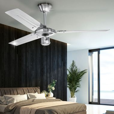 Design ceiling fan room cooler air stainless steel 60 Watt summer / winter operation D-VL 5666 AEG – Bild 2