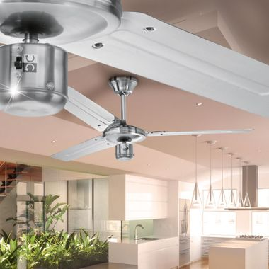 Design ceiling fan room cooler air stainless steel 60 Watt summer / winter operation D-VL 5666 AEG – Bild 3