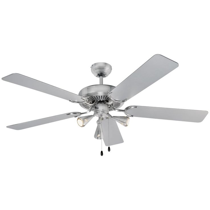 Design 5-leaf ceiling fan air cooling lighting stainless steel 60 Watt D-VL 5667 AEG – Bild 1