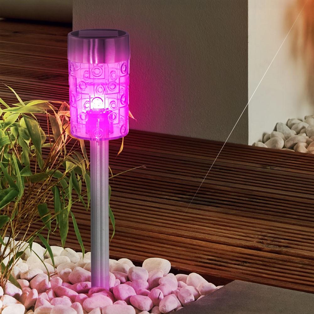 6er set led solar edelstahl h nge leuchten balkon. Black Bedroom Furniture Sets. Home Design Ideas
