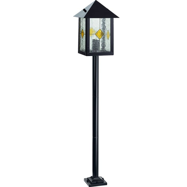 Outside stand stand lamp lighting steel black clear glass decor EGLO 88792 – Bild 1