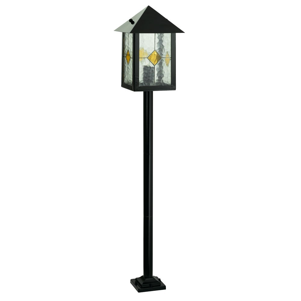 led 5 w steh lampe h he 1120 mm garten leuchte balkon beleuchtung tiffany glas ebay. Black Bedroom Furniture Sets. Home Design Ideas