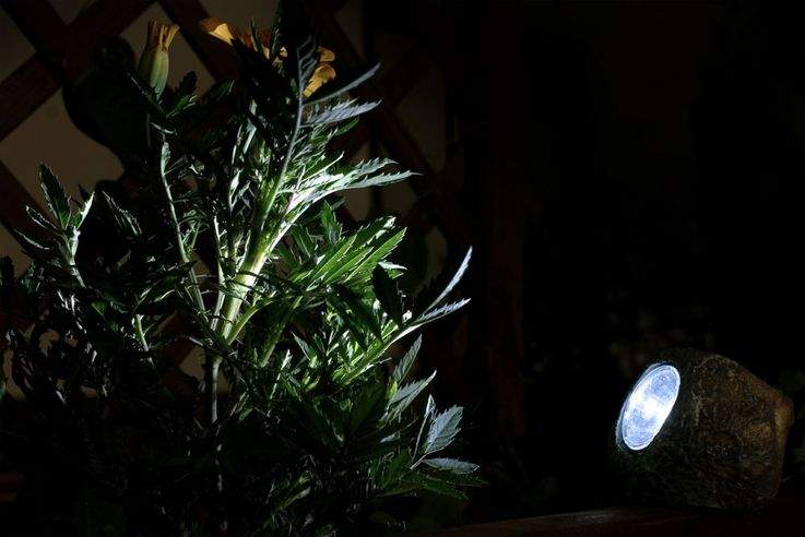10er Set LED Solar Beleuchtungen in Form von Steinen – Bild 9