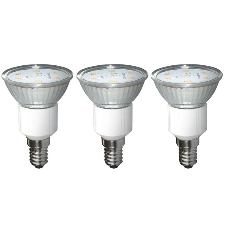 Set of 3 watt SMD LED bulb warm white light bulb E14 spotlights ESTO 89516-3 – Bild 1