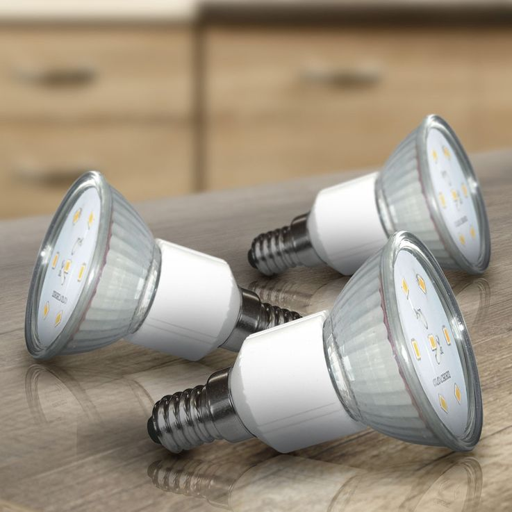 Set of 3 watt SMD LED bulb warm white light bulb E14 spotlights ESTO 89516-3 – Bild 2