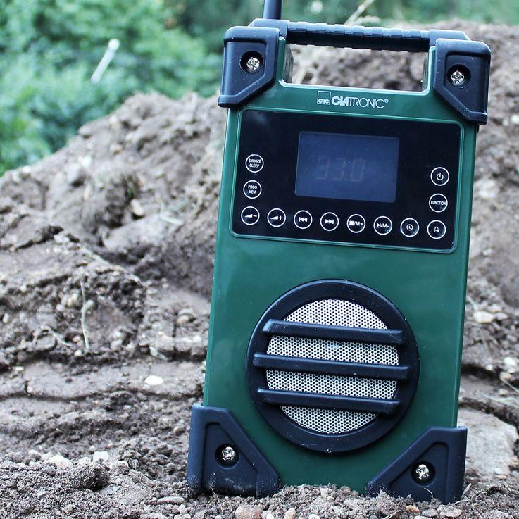 Stabiles Baustellenradio mit USB und AUX Anschluss – Bild 2