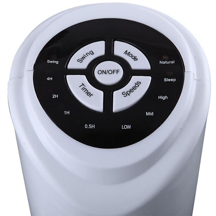 Design Tower fan column air oscillating fan timer remote control 3 stages white Globo 0452 – Bild 6