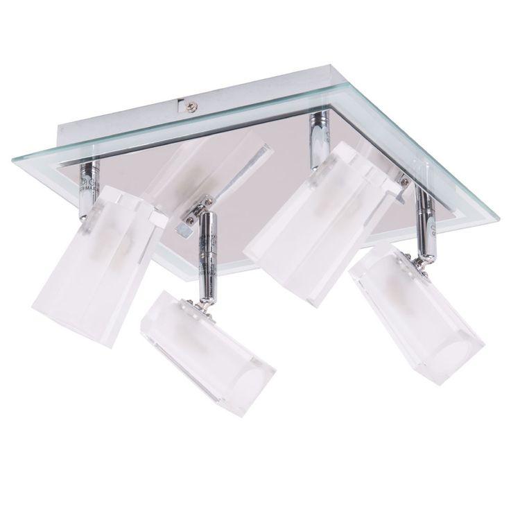 Plafonnier contemporain chromé cube de verre plaqué en métal spots lumineux  Brilliant G57235 / 15 – Bild 1