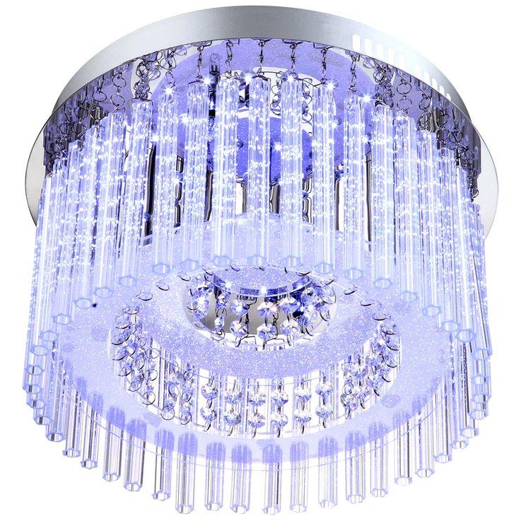 LED Deckenleuchte in Chrom mit Glasstäben – Bild 4