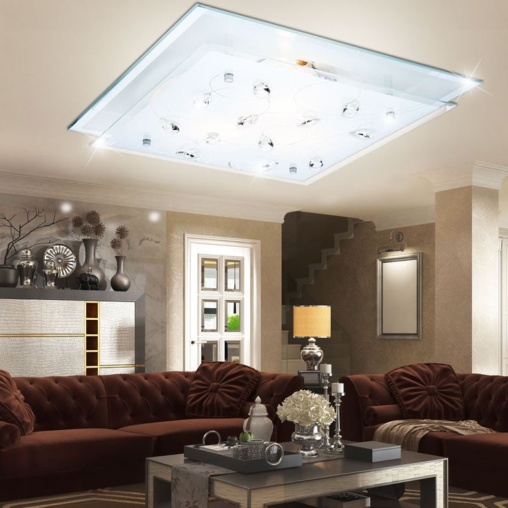 Elegant LED ceiling light in floral design – Bild 2