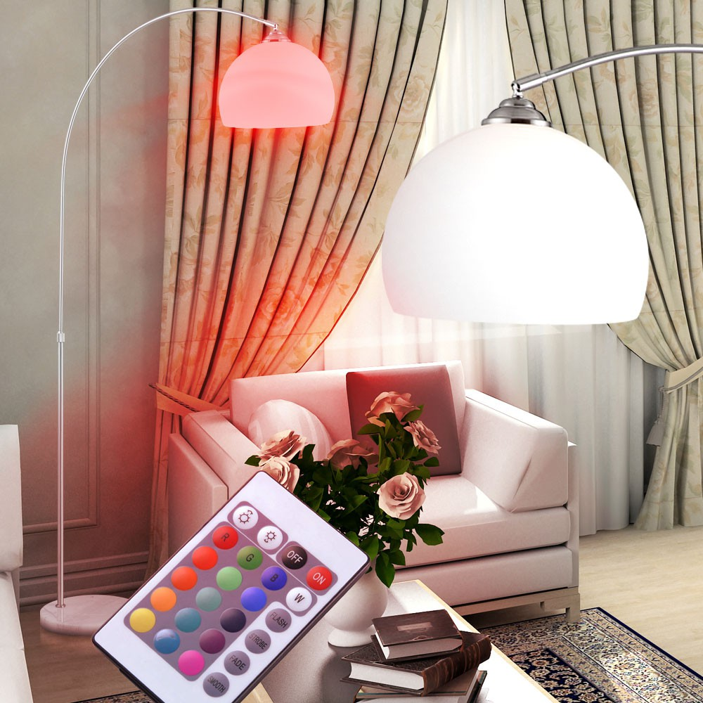 rgb led stehlampe mit marmorsockel und teleskopfunktion. Black Bedroom Furniture Sets. Home Design Ideas