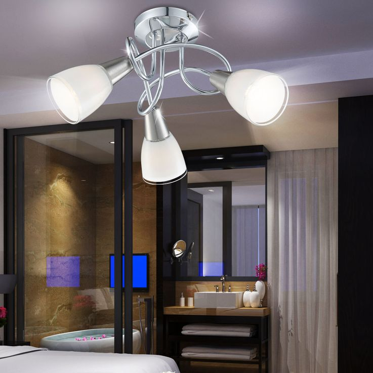Modern LED ceiling lights in round design of chromium and nickel – Bild 6