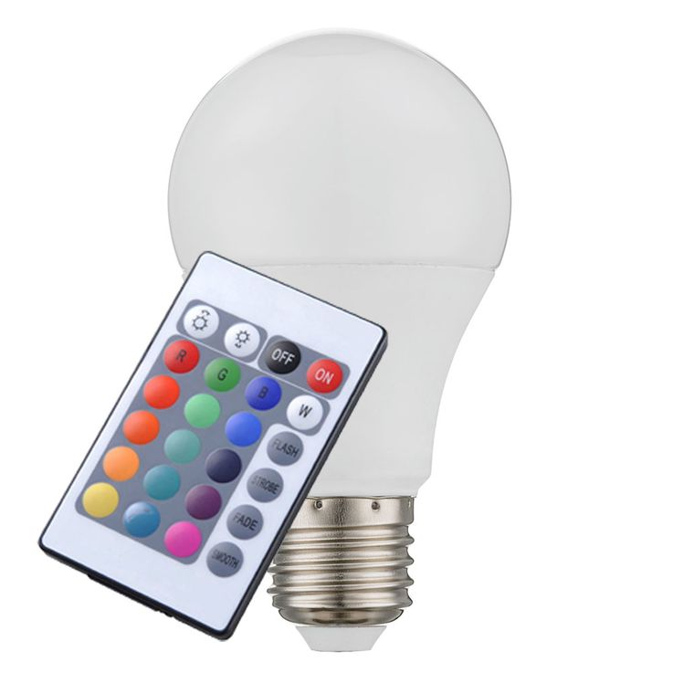 Changeur de couleurs 7 watts RGB LED E27 ampoules dimmable ampoule incandescente télécommande – Bild 1