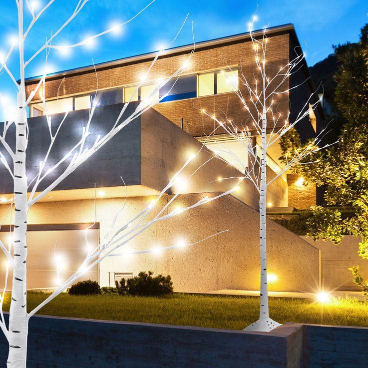 Blüten Baum 154 x LED Birke Steh Außen Leuchte Garten Ambiente Leuchtbaum Deko IP44 EGLO 75145 – Bild 4