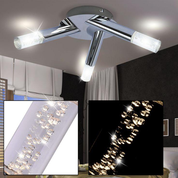 LED Ceiling Light Office Office Bubble Lamp Chrome Round EEK A + WOFI 9193.03.01.0000 – Bild 2