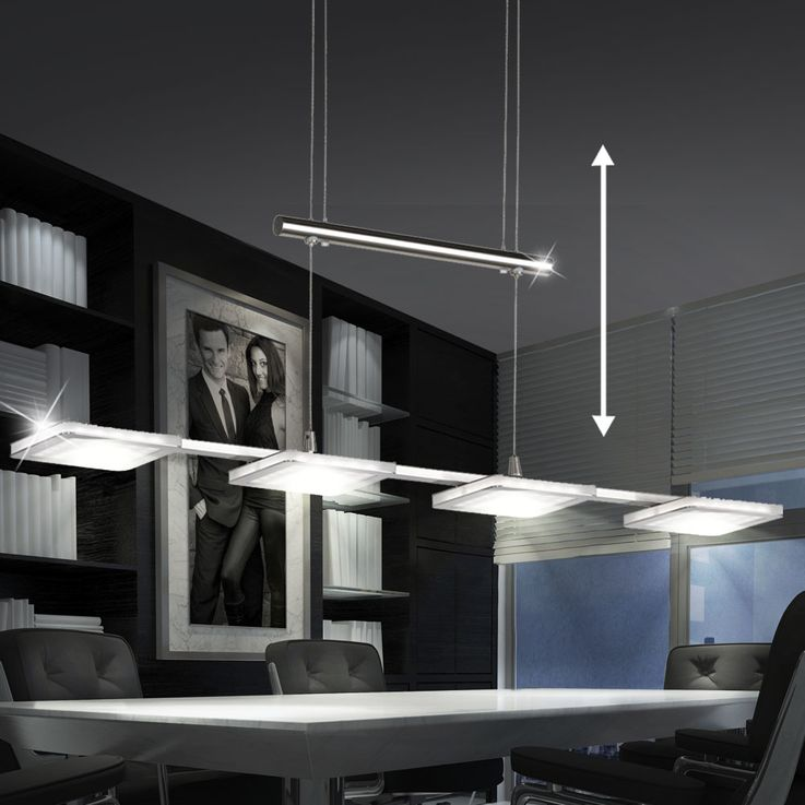 Design LED Pendant hanging lamp Dining room Ceiling floor light DIMMER EEK A WOFI 7889.04.64.0000 – Bild 2