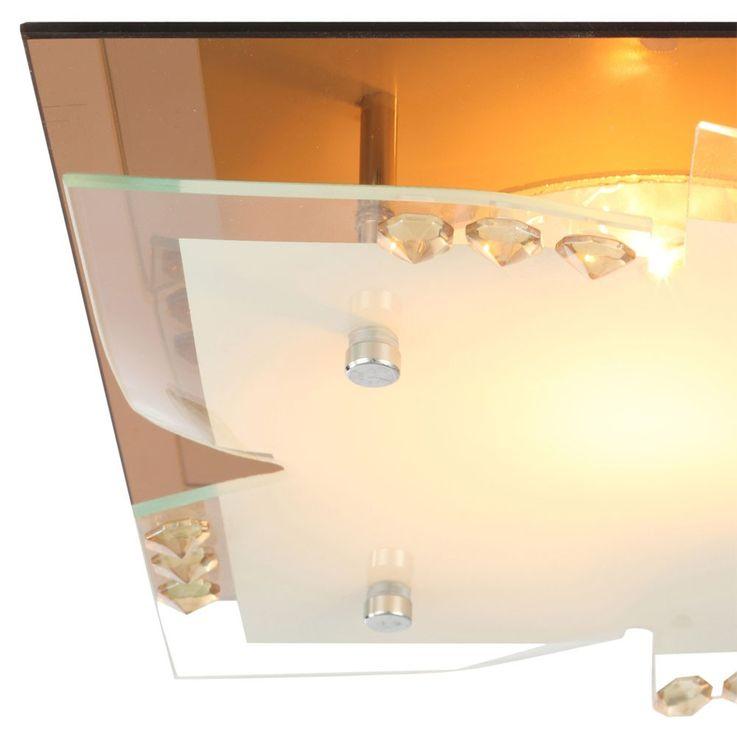 Design Deckenleuchte aus Glas und Chrom DUBIA – Bild 4