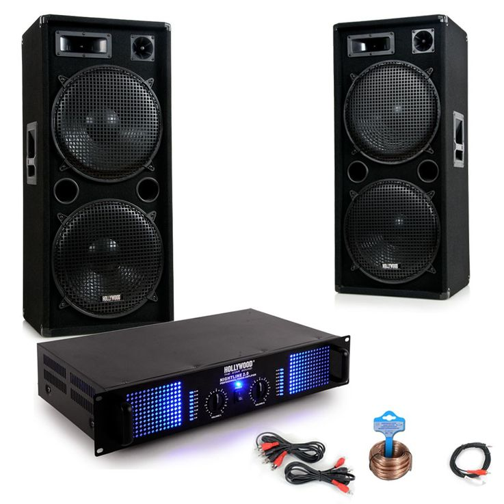 3000W PA party music system boxes amplifier speaker audio cable DJ Beststyle 2 – Bild 1