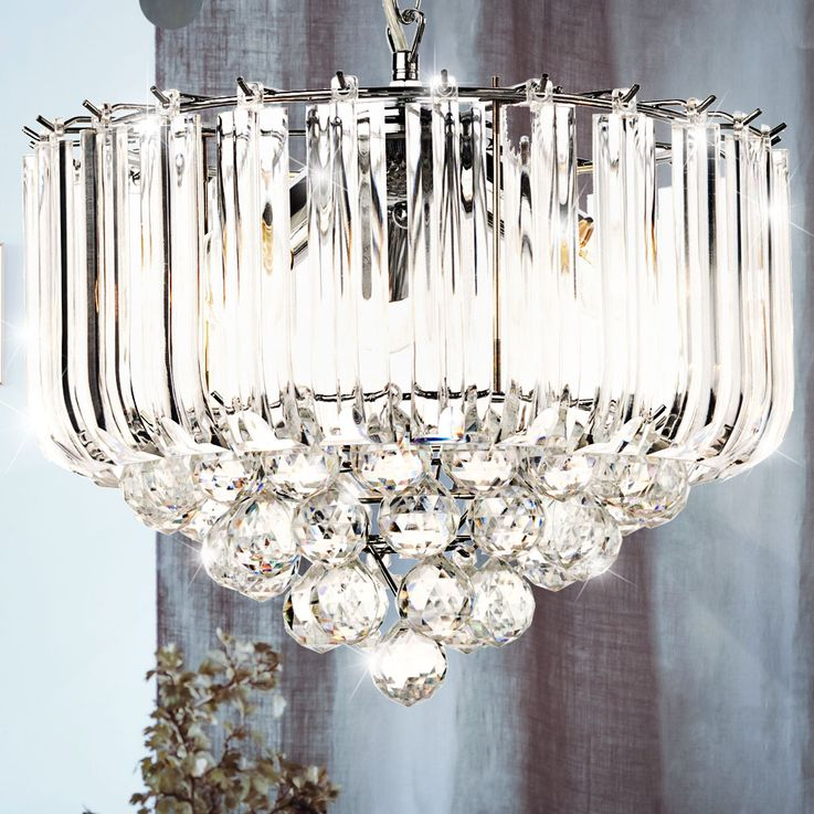 Hanging light acrylic crystal clear E14 ceiling lighting dining room pendant lamp – Bild 3