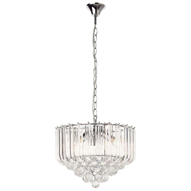 Hanging light acrylic crystal clear E14 ceiling lighting dining room pendant lamp – Bild 1