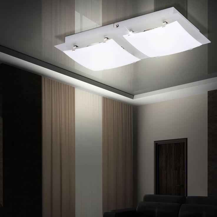 Un plafonnier en métal et en verre pour l'espace intérieur – Bild 5