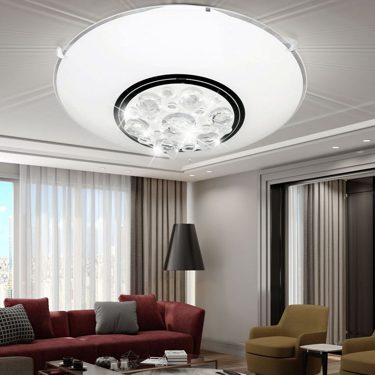 LED ceiling light with glass crystals NOA – Bild 2