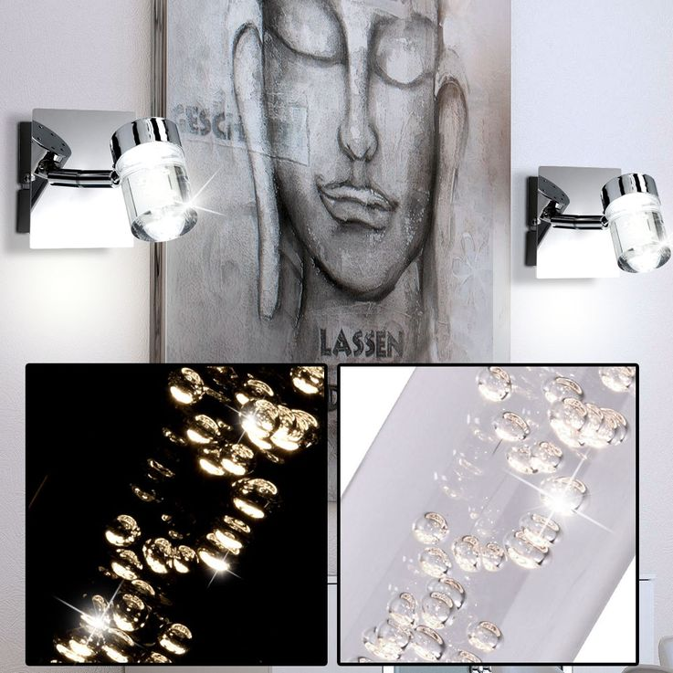 LED wall light living room chrome air bubble spotlights Spot EEK A + WOFI 4806.01.01.0000 – Bild 2