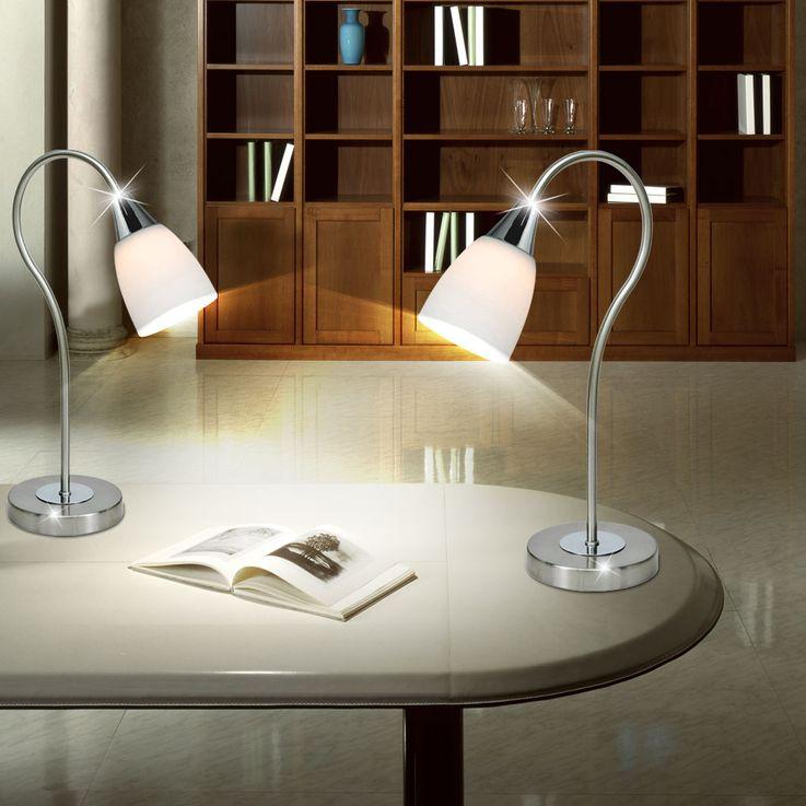 Lampe de table DEL 5 W luminaire éclairage verre lecture DEL bureau chambre – Bild 4