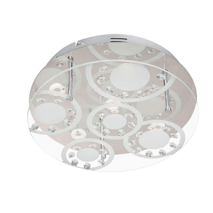 Design LED Decken Leuchte Beleuchtung Chrom Lampe rund Glas Kristalle WOFI 9624.05.01.0320 – Bild 5