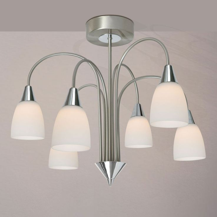 Lustre lampe DEL 30 watts suspension luminaire plafond chrome nickel mat verre – Bild 4