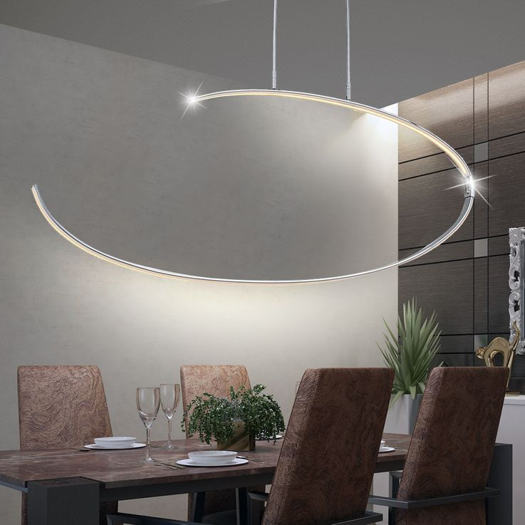 LED 27 W pendant lamp living room ceiling spotlight chrome lamp swinging EEK A WOFI 6024.01.01.0000 – Bild 4