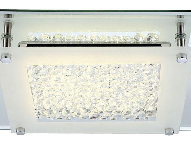 Plafonnier LED 17 Watts luminaire plafond verre cristaux éclairage salle de séjour – Bild 7
