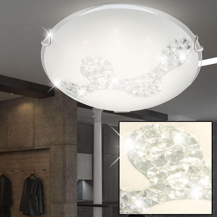 Stilvolle Deckenlampe mit Glaskristallen – Bild 2